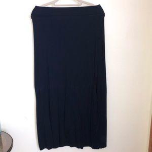 J.Crew Navy Blue Maxi Skirt - S